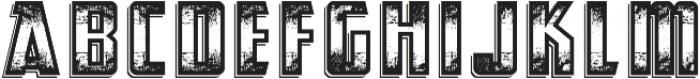 Abandoned otf (400) Font LOWERCASE
