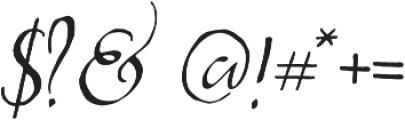 Abbie Script Pro Regular otf (400) Font OTHER CHARS