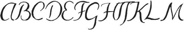 Abbie Script Pro Regular otf (400) Font UPPERCASE