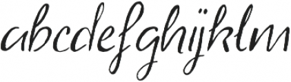 Abbie Script Pro Regular otf (400) Font LOWERCASE