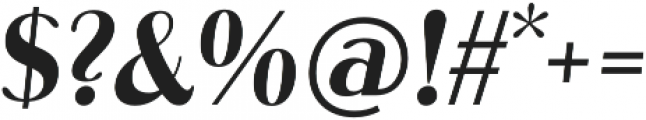Abbiente Regular Italic otf (400) Font OTHER CHARS