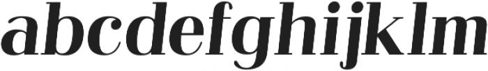 Abbiente Regular Italic otf (400) Font LOWERCASE