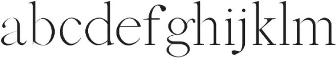 Abed Light otf (300) Font LOWERCASE