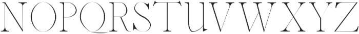 Abed Thin otf (100) Font UPPERCASE