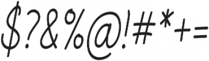Aberdeen Condensed Italic ttf (400) Font OTHER CHARS