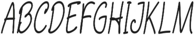 Aberdeen Condensed Italic ttf (400) Font UPPERCASE