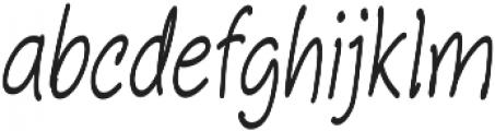 Aberdeen Condensed Italic ttf (400) Font LOWERCASE