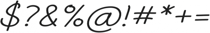 Aberdeen Expanded Italic ttf (400) Font OTHER CHARS