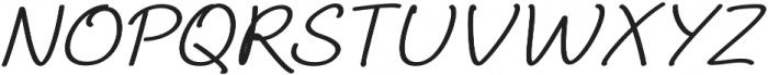 Aberdeen Expanded Italic ttf (400) Font UPPERCASE