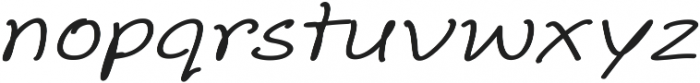 Aberdeen Expanded Italic ttf (400) Font LOWERCASE