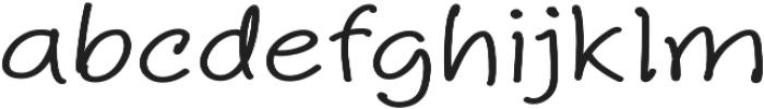 Aberdeen Expanded Regular ttf (400) Font LOWERCASE