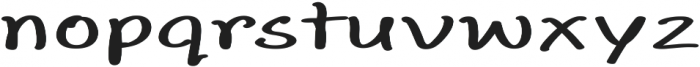 Aberdeen Extra-expanded Bold otf (700) Font LOWERCASE