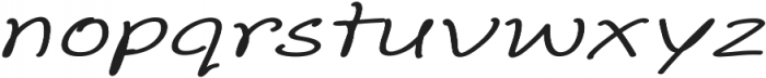 Aberdeen Extra-expanded Italic ttf (400) Font LOWERCASE