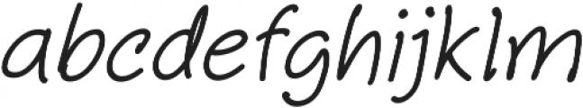 Aberdeen Italic ttf (400) Font LOWERCASE
