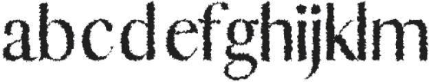 Abiah Distorted otf (400) Font LOWERCASE