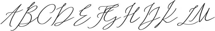 Abiding Love Script Alt Bold otf (700) Font UPPERCASE
