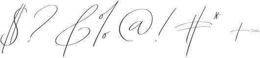 Abiding Love Script otf (400) Font OTHER CHARS