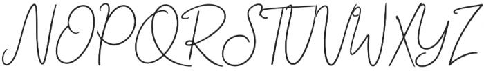 Abidzarly Script otf (400) Font UPPERCASE