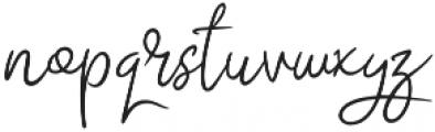 Abidzarly Script otf (400) Font LOWERCASE