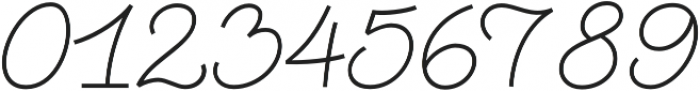 Abigail Script otf (400) Font OTHER CHARS