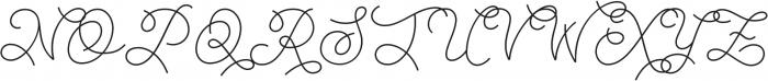 Abigail Script otf (400) Font UPPERCASE