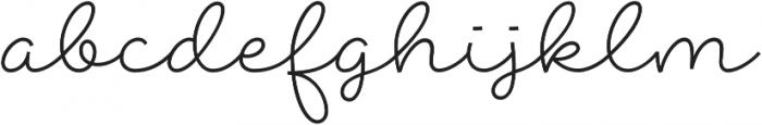 Abigail Script otf (400) Font LOWERCASE