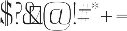 Abner Light otf (300) Font OTHER CHARS