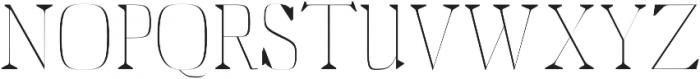 Abner Thin otf (100) Font UPPERCASE