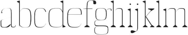Abner Thin otf (100) Font LOWERCASE