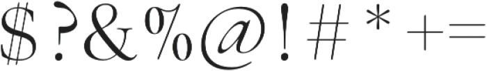 Above the Beyond Serif otf (400) Font OTHER CHARS