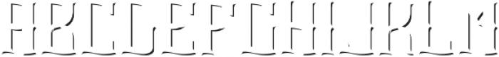 Absinthe Font ShadowFX otf (400) Font UPPERCASE