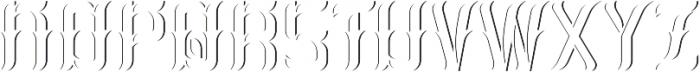 Absinthe02 LightAndShadowFX otf (300) Font UPPERCASE