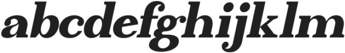 Absolute Borsalino Oblique otf (400) Font LOWERCASE