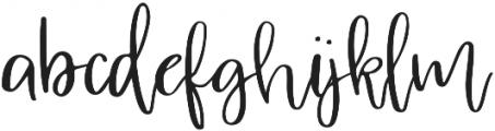 Absorbed Regular otf (400) Font LOWERCASE