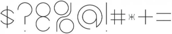 Abstracular Regular otf (400) Font OTHER CHARS