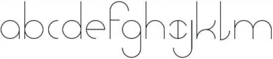 Abstracular Regular otf (400) Font LOWERCASE