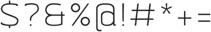 Abula Organic Light Oblique otf (300) Font OTHER CHARS