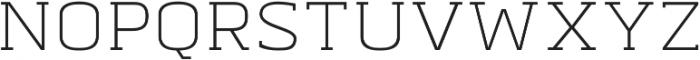 Abula Organic Oblique otf (400) Font UPPERCASE