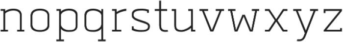 Abula Organic Oblique otf (400) Font LOWERCASE