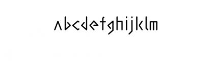 abakamu.otf Font LOWERCASE