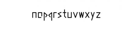 abakamu.ttf Font LOWERCASE