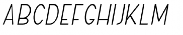 ABTS Aviator Light Italic Font UPPERCASE