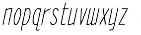 ABTS Oklahoma Italic Font LOWERCASE