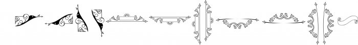 Abhinaya - Victorian 1 Font UPPERCASE