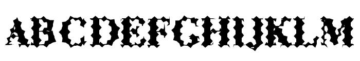 ABCTech Bodoni Cactus Font UPPERCASE