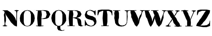 ABCTech Bodoni Mangle Font UPPERCASE