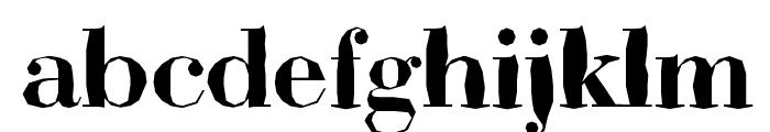 ABCTech Bodoni Mangle Font LOWERCASE