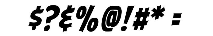 ABFlockHeadline Bold Italic Font OTHER CHARS
