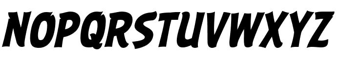 ABFlockHeadline Bold Italic Font UPPERCASE