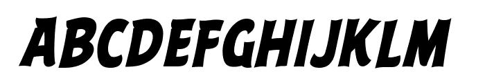 ABFlockHeadline Bold Italic Font LOWERCASE